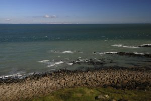 Vue sur l'Angleterre depuis le Cap Gris Nez<br> Parc Naturel Régional des Caps et Marais d'Opale