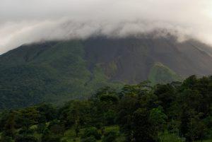 Vues de l'hôtel Arenal volcan Inn<br> Parc du Volcan Arenal<br> Costa-Rica