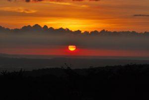 Couché de soleil<br> Parc du volcan Rincon de la Vieja<br> Costa-Rica
