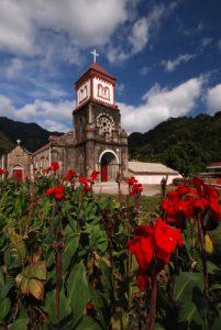 Eglise de Soufrière<br> Côte sud ouest<br> Île de la Dominique (Dominica)