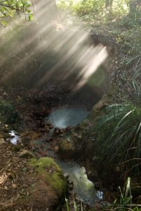 Chaudron bouillant<br> Village de Wotten Waven<br> Île de la Dominique (Dominica)
