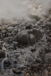 Chaudron bouillant<br> Vallée de la désolation<br> Chemin du lac Boeling  Lake<br> Île de la Dominique (Dominica)