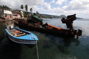 Epaves de bateau<br> Baie de Portsmouth<br> Île de la Dominique (Dominica)