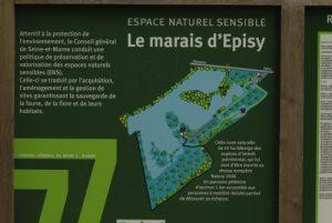 Panneau de l'ENS du marais d'Episy -  Réserve du Marais d'Episy