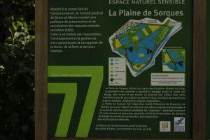 Panneau de l'ENS de la plaine de Sorques -  Forêt de Fontainebleau