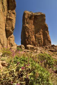 Le Roque Nublo est un monolithe de basalte haut de 80 mètres et culminant à 1 813 mètres d'altitude<br> Parque rural del Nublo<br> Île de Grande Canarie