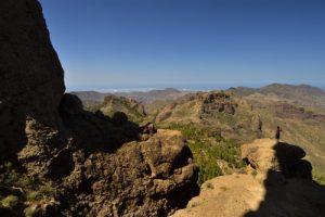 Point de vue depuis le Roque Nublo<br> Parque rural del Nublo<br> Île de Grande Canarie