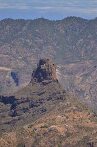 Le Roque Bentayga depuis le Roque Nublo<br> Parque rural del Nublo<br> Île de Grande Canarie