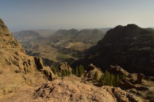Point de vue du Mirador du Pico de Las Nieves, sur la Caldera de Tirajana<br> Paysaje Protegido de Las Cumbres<br> Île de Grande Canarie