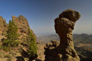 Rocher ruiniforme du Pico de Las Nieves<br> Paysaje Protegido de Las Cumbres<br> Île de Grande Canarie