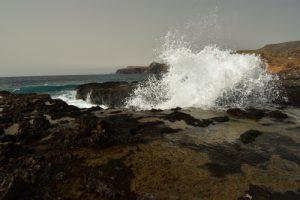 Côte et piscines naturelles près d'Agaete<br> Île de Grande Canarie