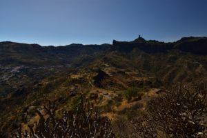La Caldera de Tejeda depuis le Roque Bentayga<br> Paysaje Protegido de Las Cumbres<br> Île de Grande Canarie