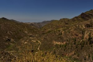 Paysage proche du lac de barrage Presa de la Niña<br> Reserva Natural Integral de Inagua<br> Île de Grande Canarie
