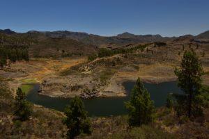 Le Lac de barrage Embalse de Mulato<br> Parquel Rural del Nublo<br> Île de Grande Canarie