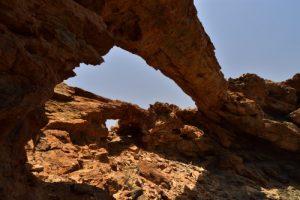 Le double Arc en pierre Arco de Coronadero<br> Barranco de Hondo<br> Île de Grande Canarie