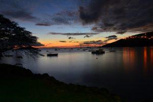 Plage de Malendure au coucher de soleil<br> Parc Naturel National de la Guadeloupe (Basse-Terre)