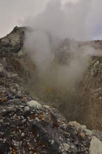 Le gouffre Tarissan au sommet de La Soufrière -  Parc national de la Guadeloupe -  Basse-Terre / Guadeloupe