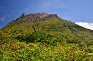 Vue du sommet de la Soufrière et Piton Dolomieu (1464m)  -  Parc national de la Guadeloupe -  Basse-Terre / Guadeloupe
