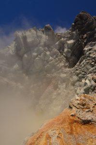 Cratère sud de la Soufrière avec Soufre et fumée -  Parc national de la Guadeloupe Basse-Terre / Guadeloupe