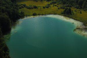Parc régional du haut Jura : Belvédère des Trois Lacs : le lac Grand Maclu