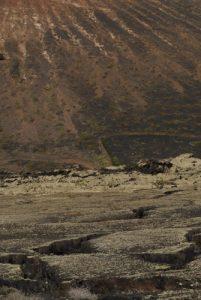 Soleil de lave du Volcan Testeyna Île de Lanzarote (Islas Canarias).