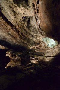 Tunnel de lave de la Cueva de los Verdes. Île de Lanzarote (Islas Canarias).