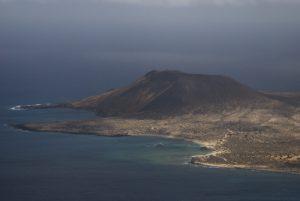 Vue sur l'île Graciosa. Mirador del Rio. Île de Lanzarote (Islas Canarias).