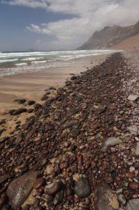 Playa & Risco de Famara.Île de Lanzarote (Islas Canarias).