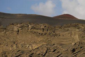 Cratère Charco de los Ciclos. Cratère El Golfo. Île de Lanzarote (Islas Canarias).