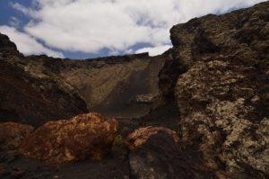 Montanas de las Lapas o del Cuervo. Parque natural de los Volcanes. Île de Lanzarote (Islas Canarias).