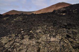 Le Volcan Montana Caldereta.<br> Parque nacional de los volcanes.<br> Île de Lanzarote (Islas Canarias).