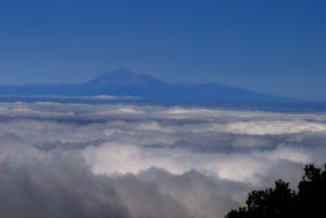 Vue sur El Teide depuis La Palma<br> Île de La Palma (Canarias)
