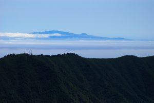 Vue sur La Gomera depuis le Pico Bejenado<br> Île de La Palma (Canarias)