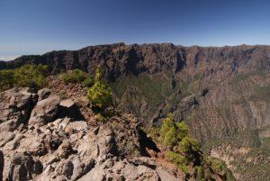 Panorama sur Caldera de Taburiente depuis le Pico Bejenado<br> Île de La Palma (Canarias)