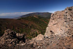 Point de vue du Pico Nambroque sur la route des volcans (Cumbre vieja)<br> La Route des Volcans<br> Île de La Palma (Canarias)