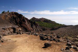 Paysages de la route des volcans (Cumbre vieja) entre Pico Birigoyo et le Cratère Hoyo Negro<br> La Route des Volcans<br> Île de La Palma (Canarias)
