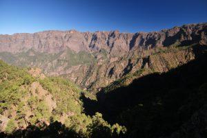 Mirador de los Roques à La Cumbrecita et la Caldera de Taburiente