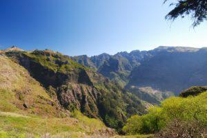 Point de vue sur Pico Grande depuis Boca di Corrida Île de Madère