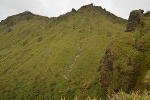 Vue sur le sommet de la Montagne Pelée Île de la Martinique