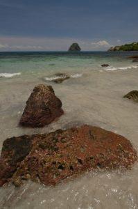 Le Rocher du Diamant depuis Anse Cafard<br> Île de la Martinique