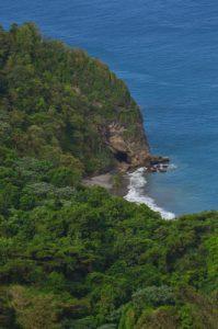 Anse Lévrier depuis le Chemin Prêcheur - Grand'Rivière<br> Parc Naturel Régional de La Martinique