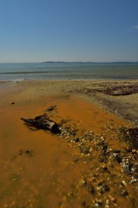 La plage du Pellegrin<br> Le Massif des Maures