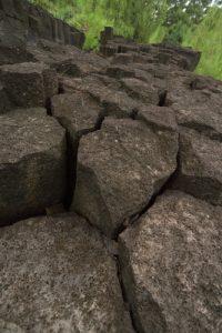 Orgues basaltiques à la La Pointe de la Table<br> Parc National de la Réunion