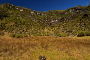 Au fond du premier cratère de type Maar des Trous Blancs<br> Parc National de la Réunion