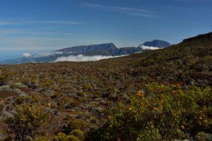 Le massif du Piton des Neiges depuis le Pas des Sables.<br> Parc National de la Réunion