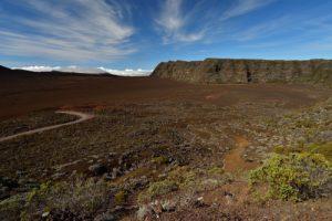 La Plaine des Sables depuis le Pas des Sables.<br> Parc National de la Réunion
