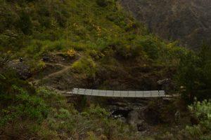 La passerelle José Ethève sur la rivière des Galets entre La Nouvelle &amp; Marla.<br> Le Cirque de Mafate<br> Parc National de la Réunion