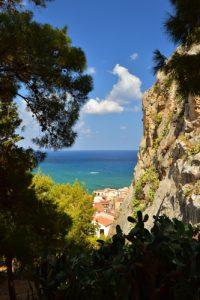 Rocher &amp; Village de Cefalù<br> Île de La Sicile