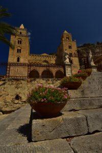 Cathédrale du XIIème siècle de Cefalù<br> Île de La Sicile