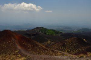Cratère du Monte Silvestri inférieur<br> Parco Dell'Etna<br> Île de La Sicile